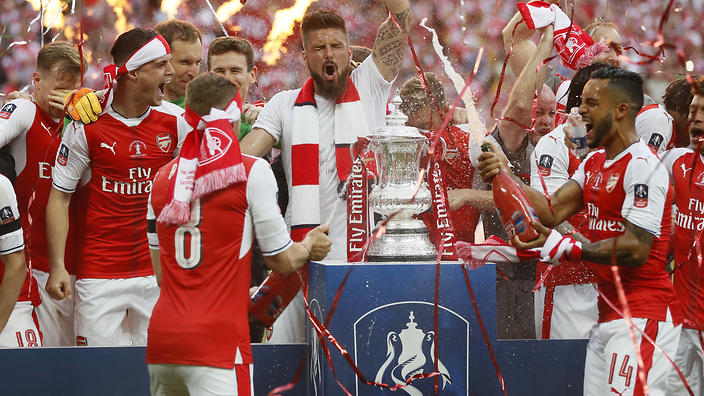 arsenal down chelsea to win record 13th fa cup arsenal celebrated a record 13th fa cup success as aaron ramsey once again grabbed the winner at wembley
